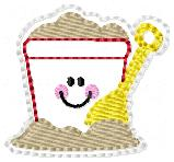 Beachy Sandpail Embroidery File