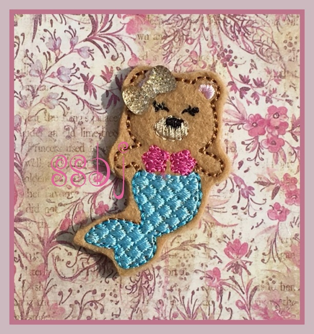 SSBJ Bear Mermaid Embroidery File