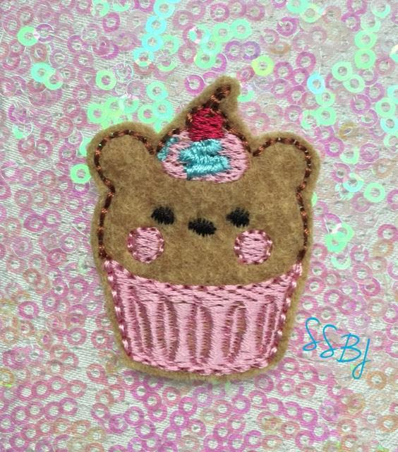 SSBJ Animal Cake Bear Embroidery File