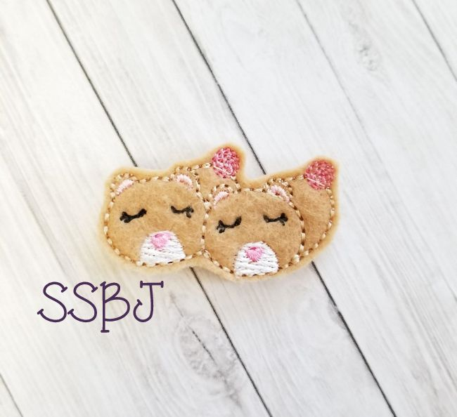 SSBJ Animal Slippers Bear Embroidery File