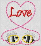 Bee My Love Embroidery File