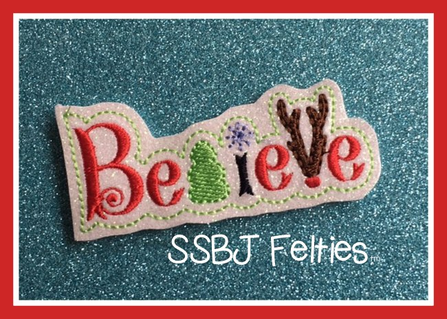 SSBJ Believe 2  Embroidery File