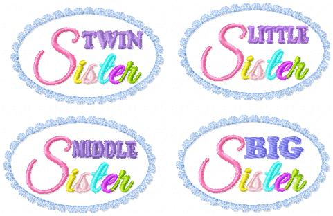 LBS Sister Variety Pack-Covers Embroidery File