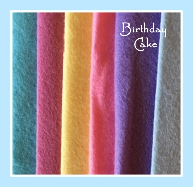 Birthday Cake 8x8 Wool Felt Bundle