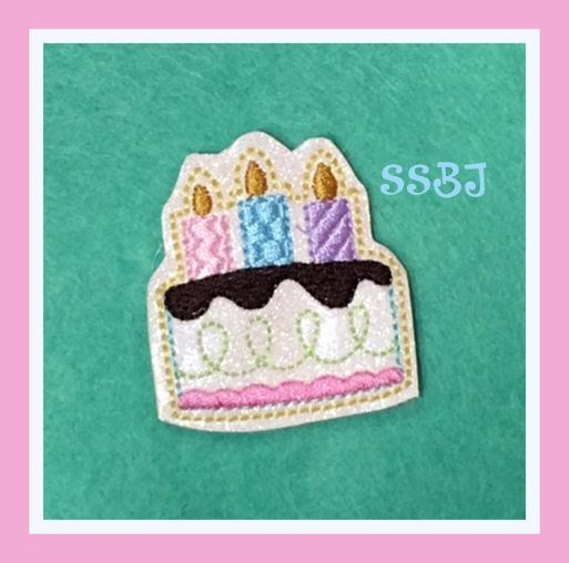 SSBJ Party Time Birthday Cake Embroidery File
