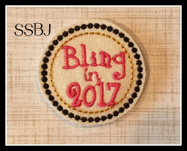 SSBJ Bling In 2017 Embroidery File