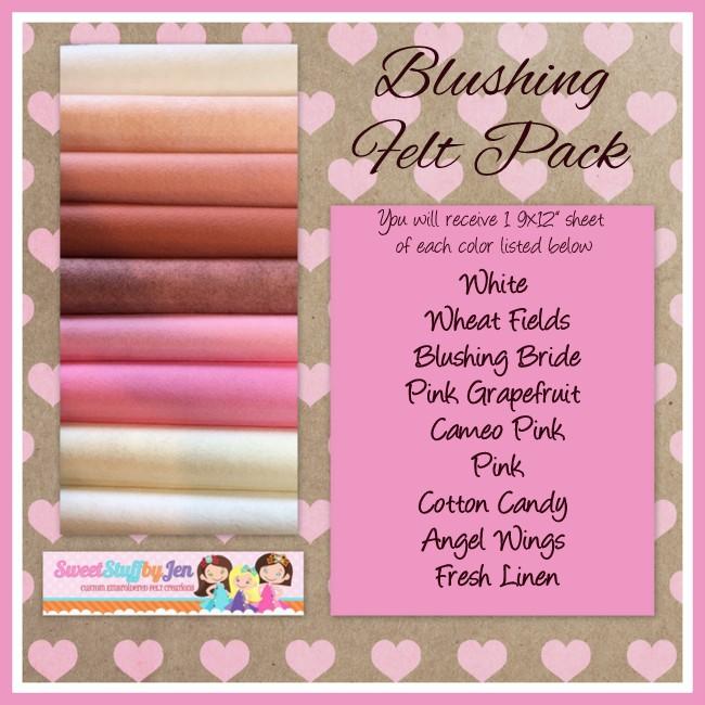 Blushing Valentine Felt Pack