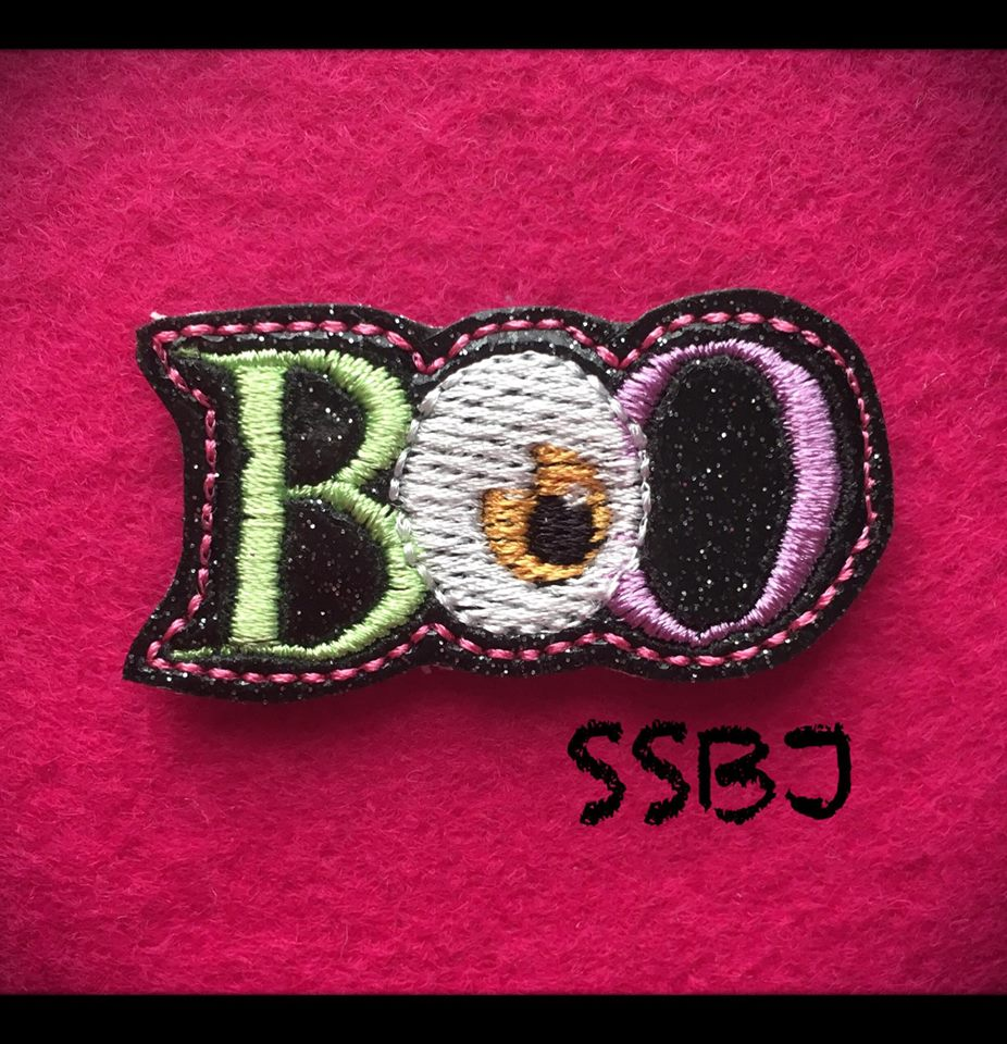 BOO with Eye Embroidery File
