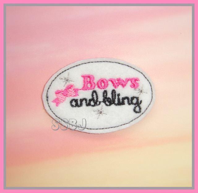 Little Bowtique Shop M2M Bows & Bling Embroidery File