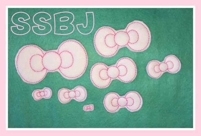 SSBJ Bow Applique Embroidery File