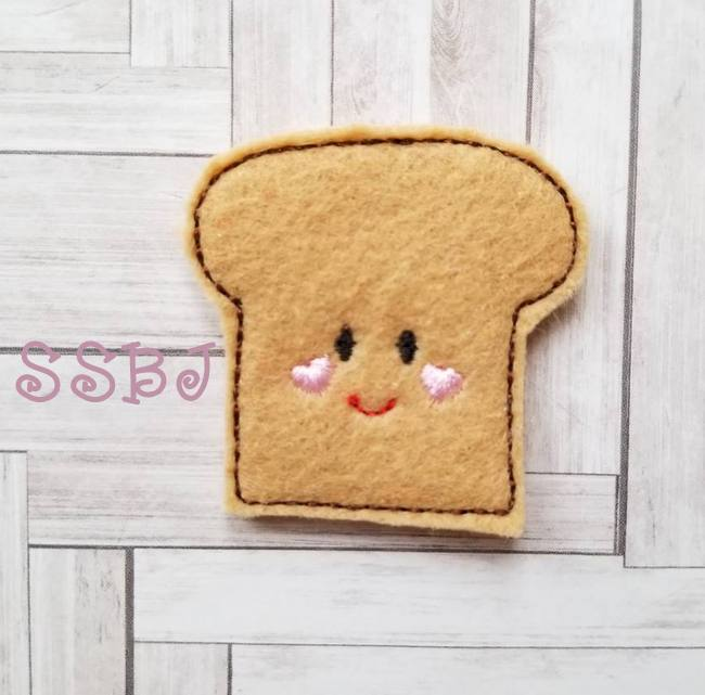 SSBJ Breakfast Cutie Toast Embroidery File