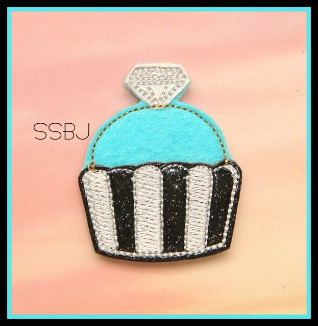 SSBJ Breakfast Chic Embroidery File DIAMOND CUPCAKE