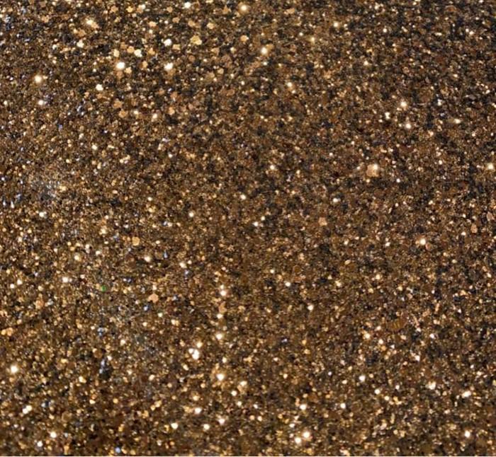 Brown Solid Chestnut Chunky Glitter Vinyl