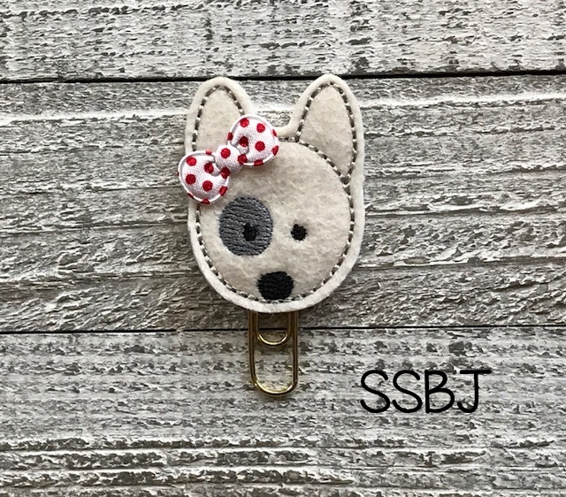 SSBJ Pet Pals Bull Terrier Embroidery File