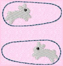 Bunny Clip Cover Embroidery File