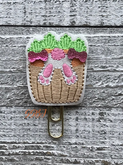 SSBJ Bunny Basket Flip Embroidery File