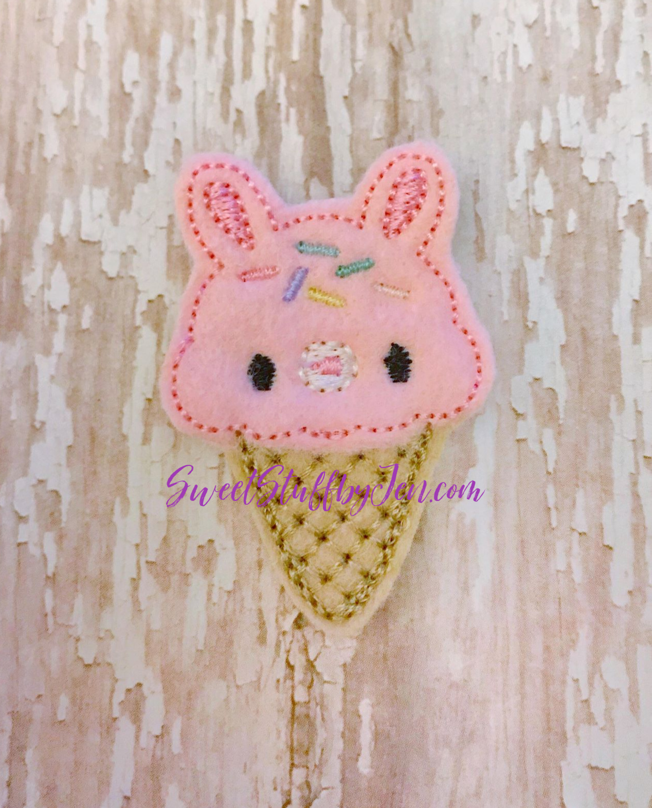 SSBJ Bunny Cone Embroidery File
