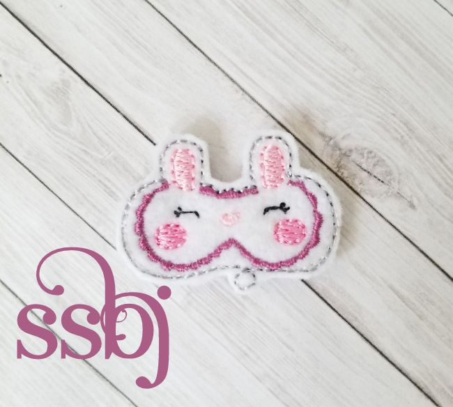 SSBJ Animal Mask Bunny Embroidery File