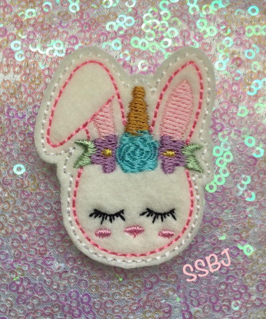 SSBJ Unicorn Bunny Embroidery File