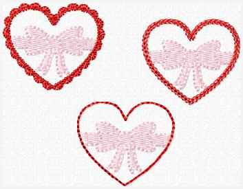 Candy Box Hearts Set Embroidery File