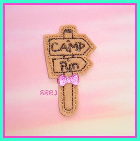 Camping fun Sign Embroidery File