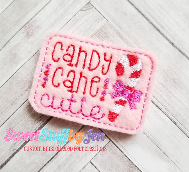 SSBJ Candy Cane Cutie 2 Embroidery File