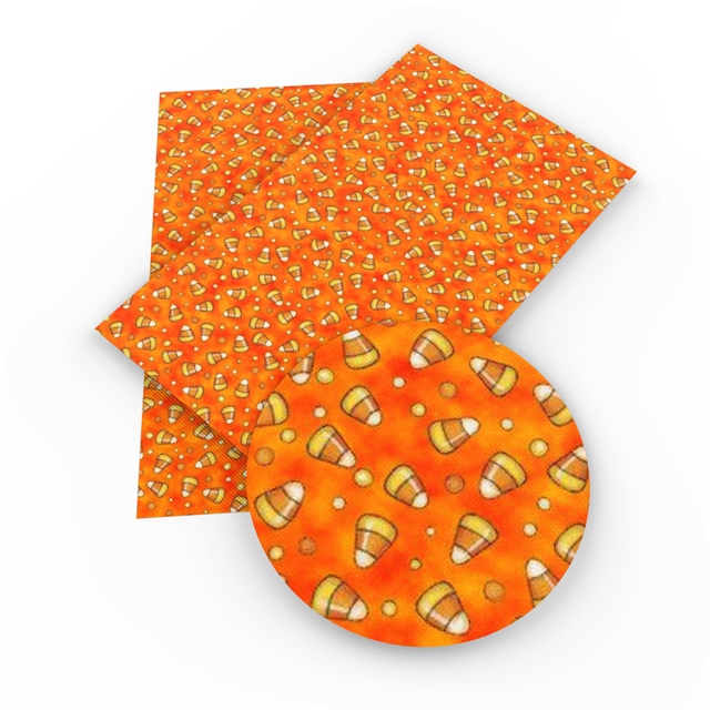 12x54 Candy Corn Printed Embroidery Vinyl