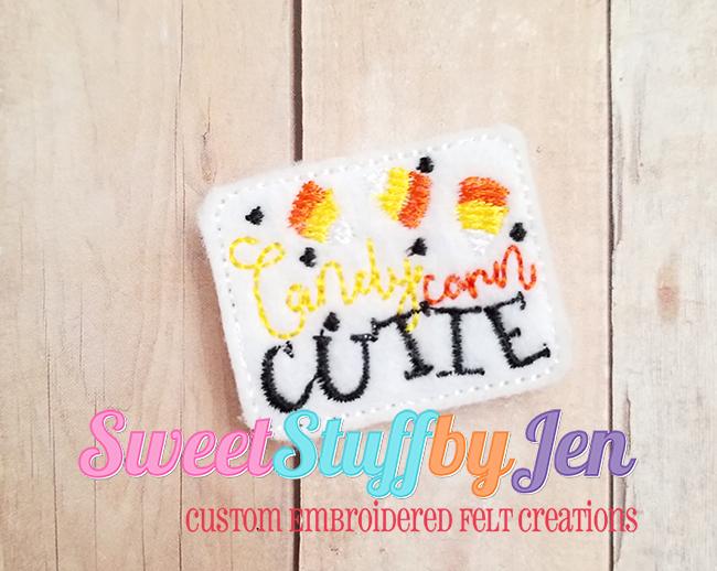 SSBJ Candy Corn Cutie 2 Embroidery File