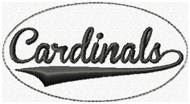 Cardinals Glam Band Embroidery File