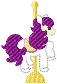 Carousel Horse Embroidery File