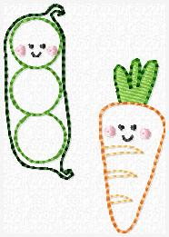 Peas & Carrots Embroidery File