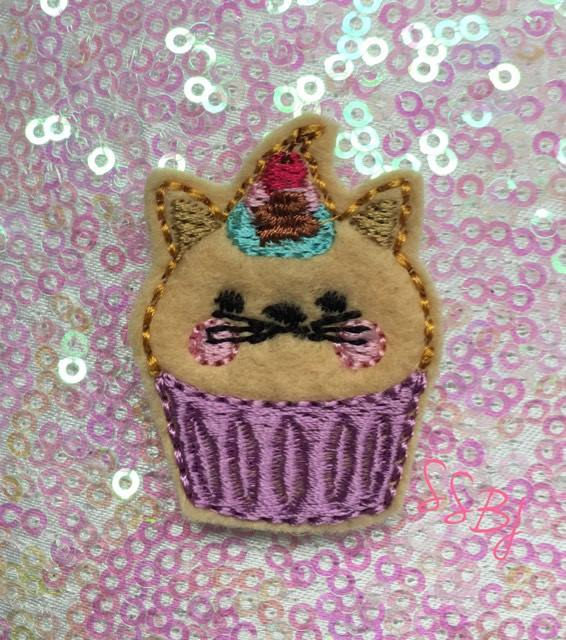 SSBJ Animal Cake Cat Embroidery File
