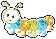 SS Caterpillar Embroidery File