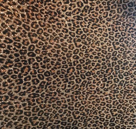 Cheetah Print Glitter Mirror Vinyl fd