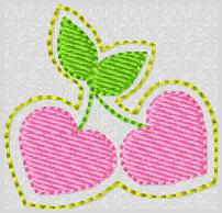 Cherry Hearts Embroidery File