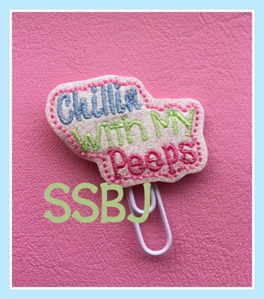 SSBJ Chillin with My Peeps Embroidery File