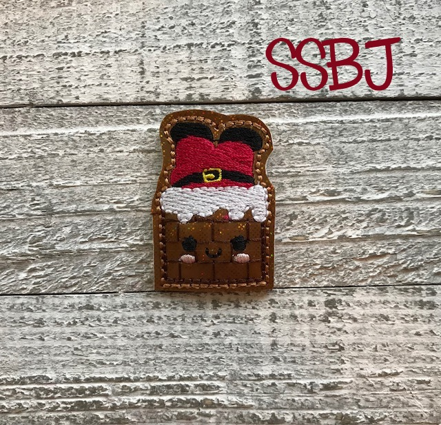 SSBJ Santa in the Chimney Embroidery File