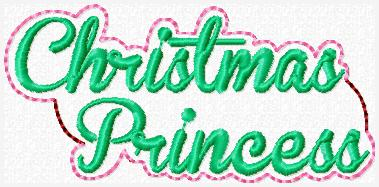 Christmas Princess Embroidery File
