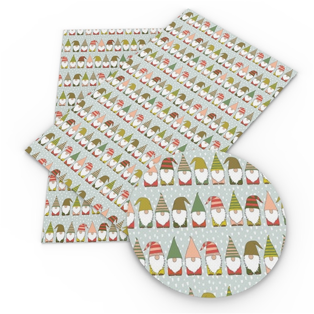 Christmas Gnomes Printed Embroidery Vinyl