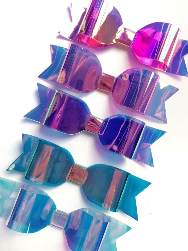Clear Iridescent Square Embroidery Vinyl
