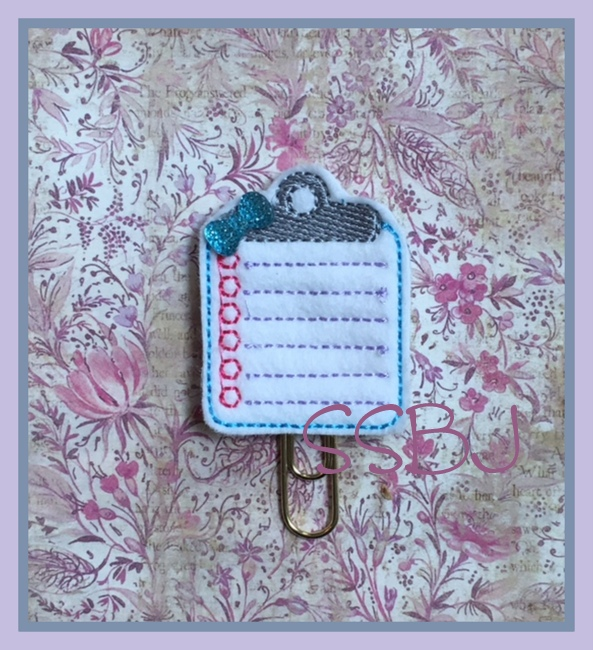 SSBJ Clip Board Embroidery File