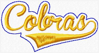 Cobras Glam Band Embroidery File