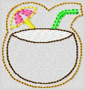Coconut Drink Embroidery File