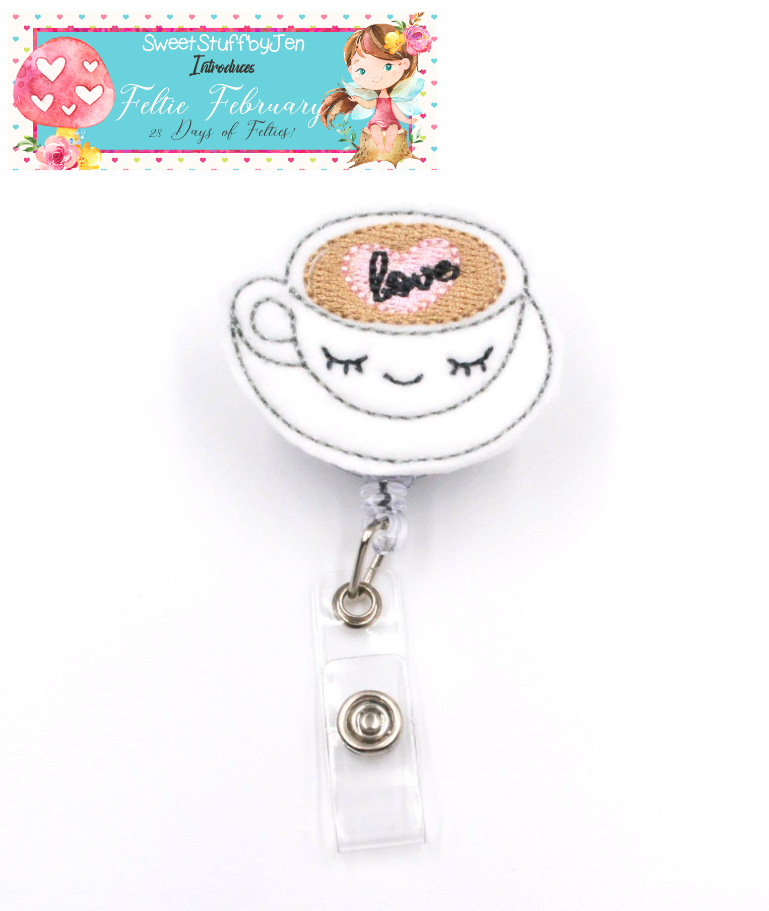 SSBJ Love Heart Coffee Embroidery File