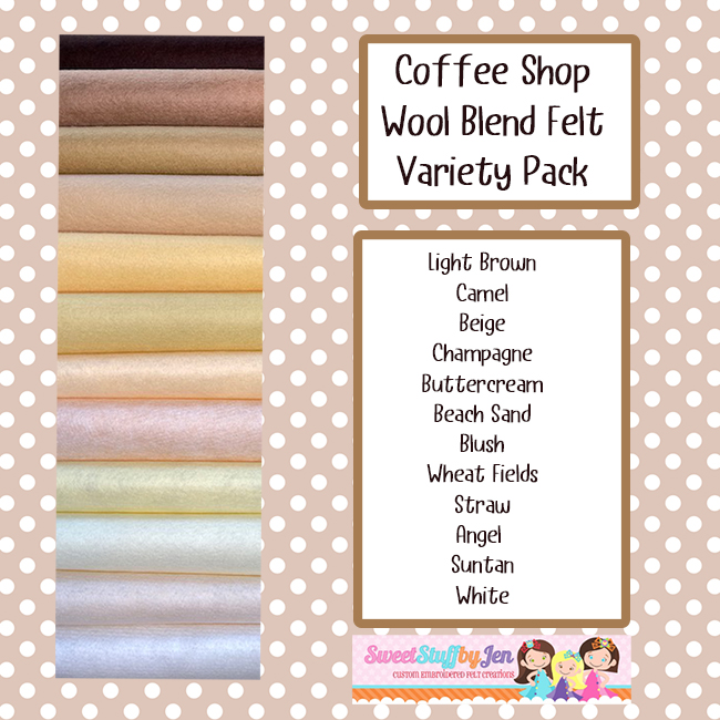 Coffee Shop Wool Blend Felt Variety Pack
