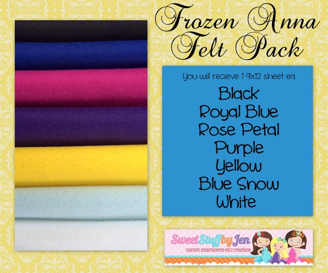 Princess Anna Inspired Wool Felt Pack