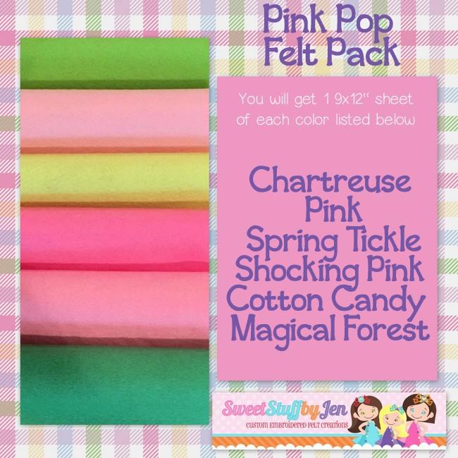 Pink Pop Felt Variety Pack