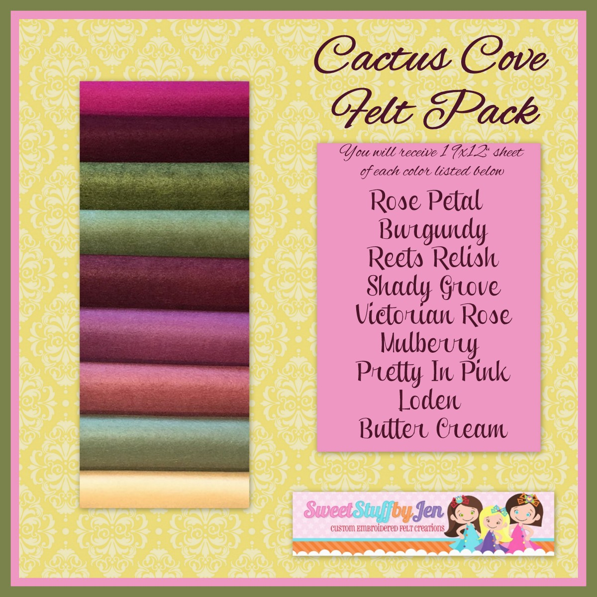 Cactus Cove Felt Variety Pack
