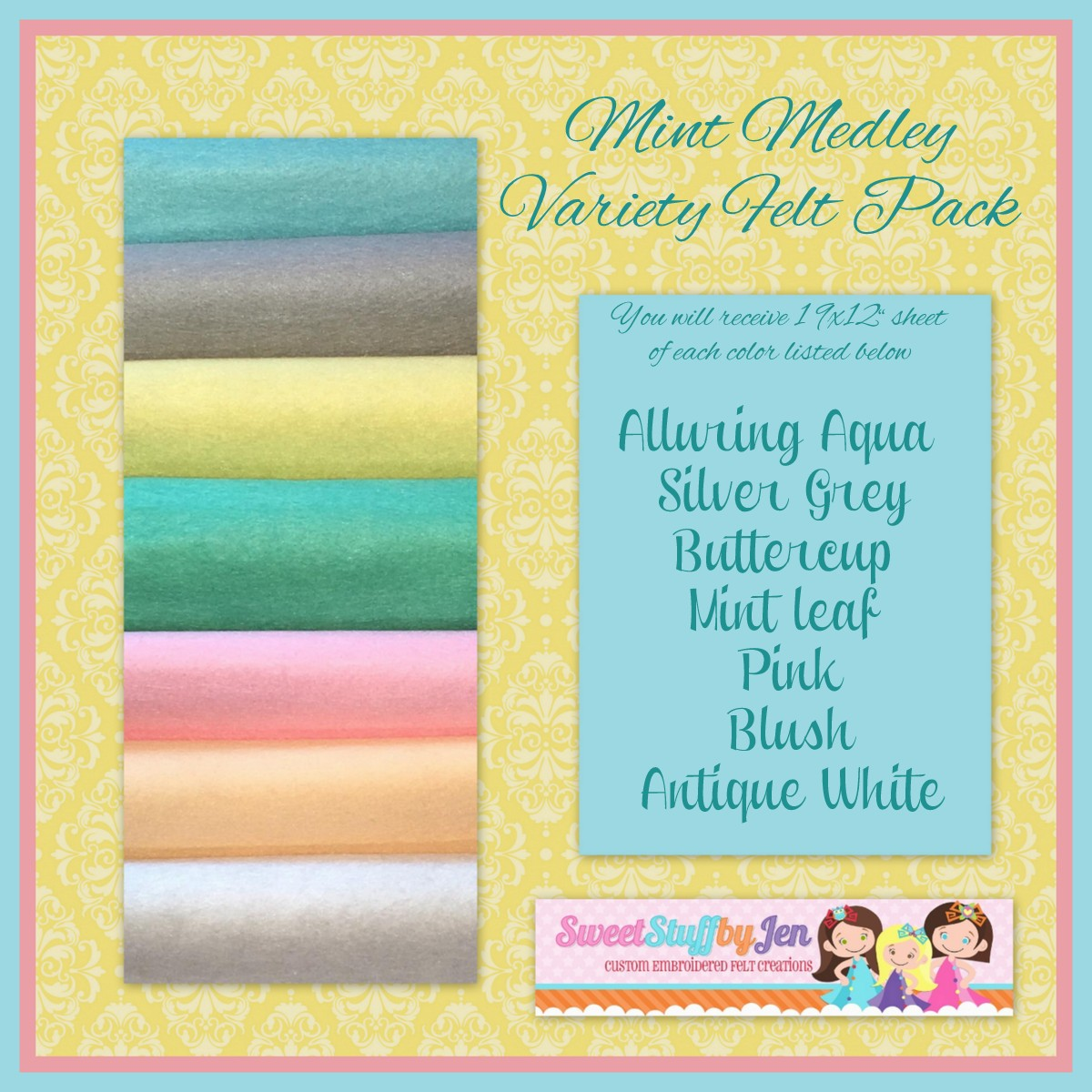 Mint Medley Felt Pack