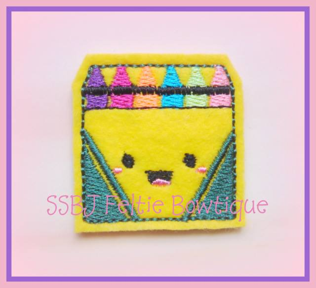 Smiley Crayons Embroidery File